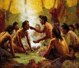 Howard Terpning-Blessing from the medicine man 2